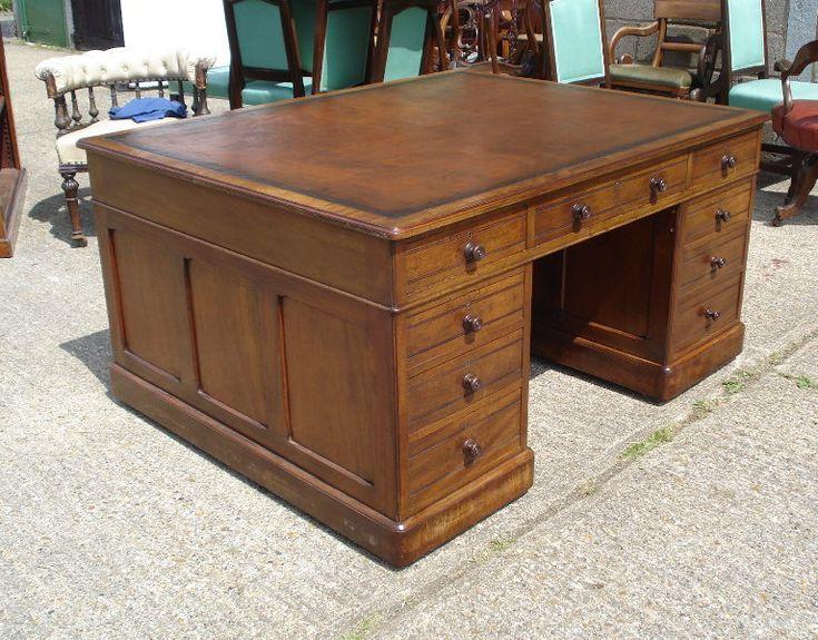 Large Antique Partners Desk - Fine Victorian Walnut Partners Desk By  Garnett And Sons - 99 Best Antique Desks Images On Pinterest Antique Furniture