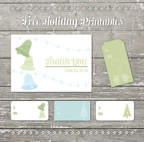 free printable holiday thank you card from thank you cards shop - Free Holiday Printables