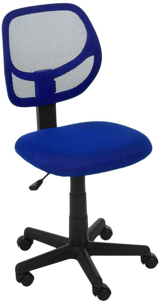 Blue Home Office Chair Desk Mate Adjustable Comfortable Back Roll Furniture  #Aico #HomeOffice