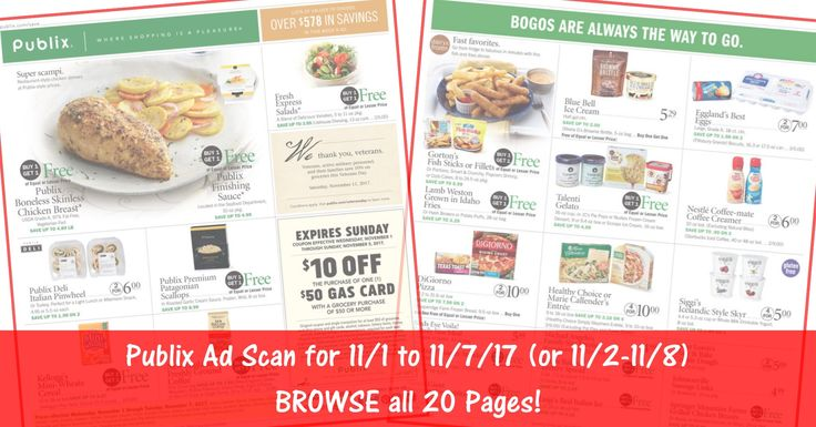 READY to BROWSE the actual upcoming Publix Weekly Ad Scan? Gas Card Deal Coming Up!! Here is the Publix Weekly Ad Scan for 11/1/17 - 11/7/17 (or 11/2-11/8 for Some)! Click the Picture below to BROWSE all 20 Pages ► http://www.thecouponingcouple.com/publix-weekly-ad-scan-11-1-17/  #earlyad #PublixAd #PublixDeals #PublixAdScan #PublixAdPreview  Visit us at http://www.thecouponingcouple.com for more great posts!