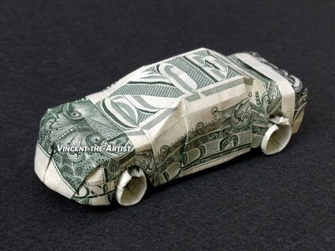 Money Origami Car - No directions