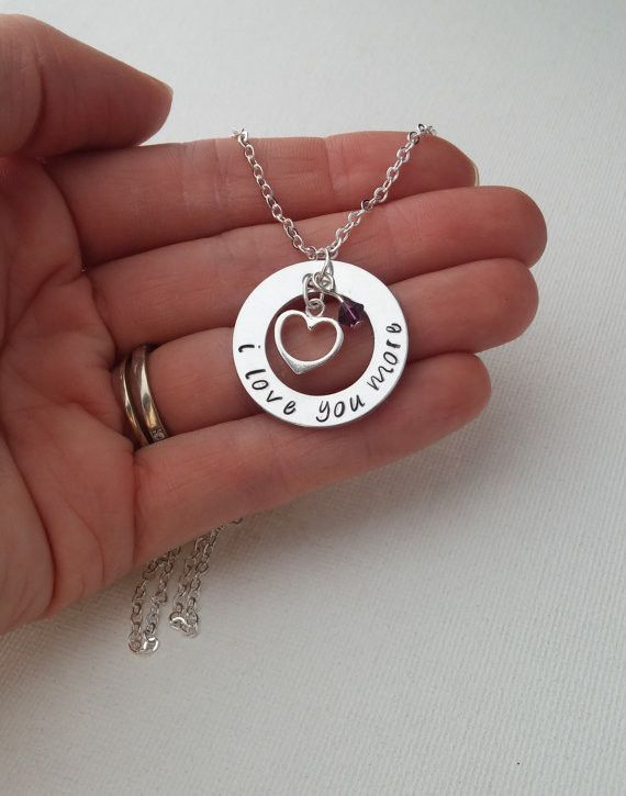 Sterling Silver Love Necklace - For couples, girlfriend, wife, daughter