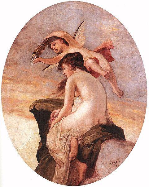 Amor and Psyche 1902, Károly Lotz (1833-1904)