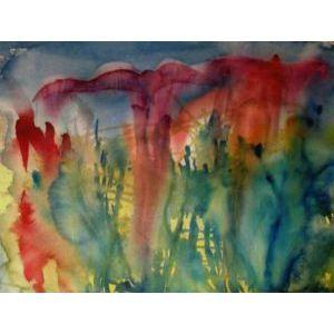 Dance of Butterflies, Sirkkaliisa Virtanen, watercolor