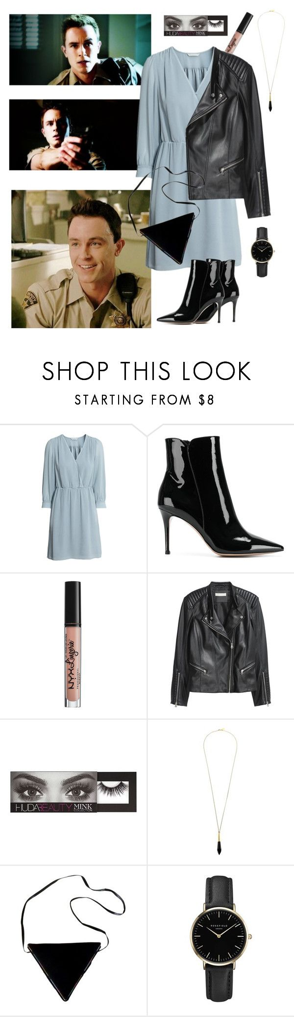 """Deputy Parrish with Ootd girl🙈"" by ladyroseee ❤ liked on Polyvore featuring Gianvito Rossi, NYX, H&M, Huda Beauty, Boutique by Lola, Casadei and ROSEFIELD"