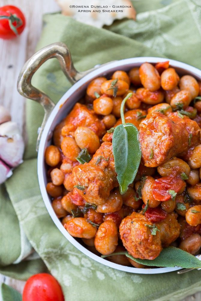 Tuscan Sausage and Beans in Tomato Sauce