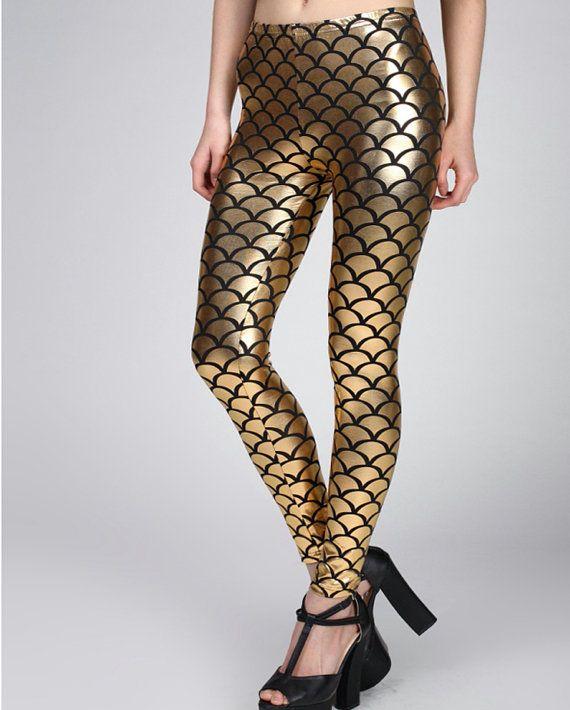 Mermaid Leggings-Fish Scale Leggings-Mermaid Tights-Little Mermaid-Mermaid Jewelry-Adult Mermaid Costume-Adult Mermaid Tail-WomenMermaid Art...