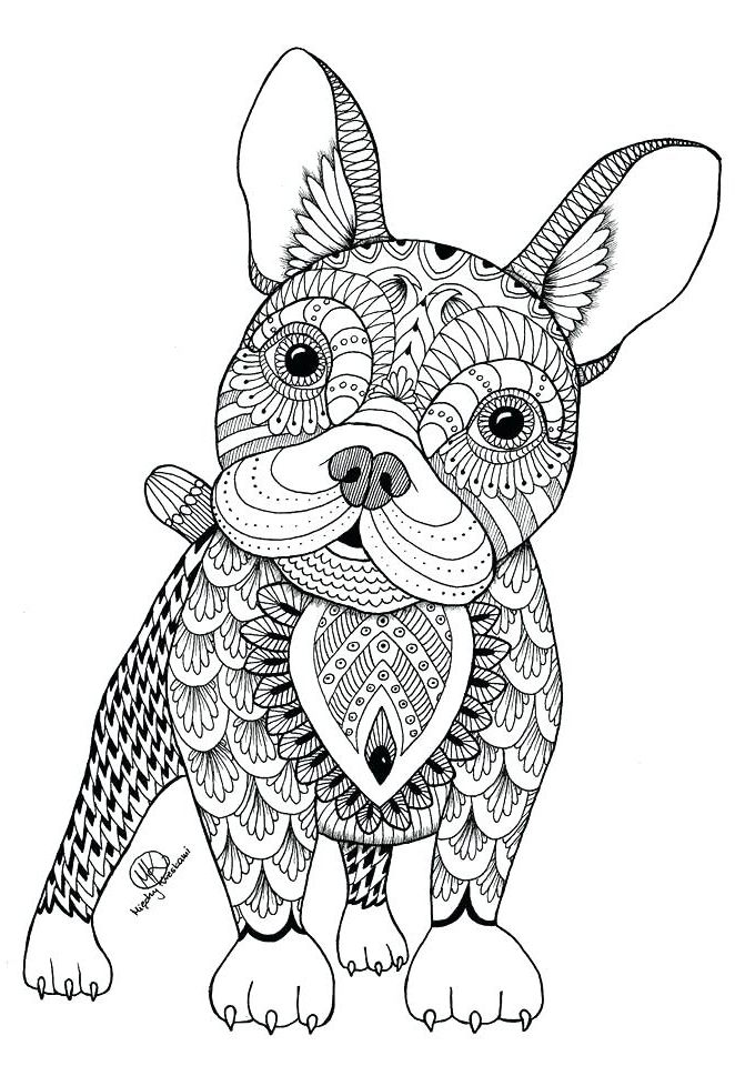 Coloring Pages for Adults | Mandala coloring pages, Dog ... | free printable animal mandala coloring pages for adults