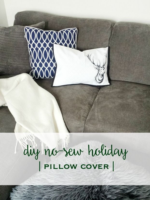 No Sew DIY Pillow Cover - the cutest holiday pillow and completely customizable!!! | A Dash of Mum DIY Blog