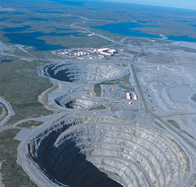 Most Amazing Holes in The World - Diavik Diamond Mine, Canada
