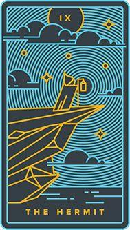 The Hermit Tarot Card - Golden Thread Tarot Deck
