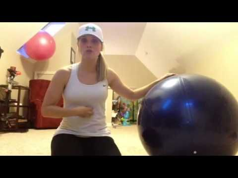 Fit Life Coach Michelle Myers explains and demonstrates the stability ball pike-up, a great exercise for core and upper body strength.