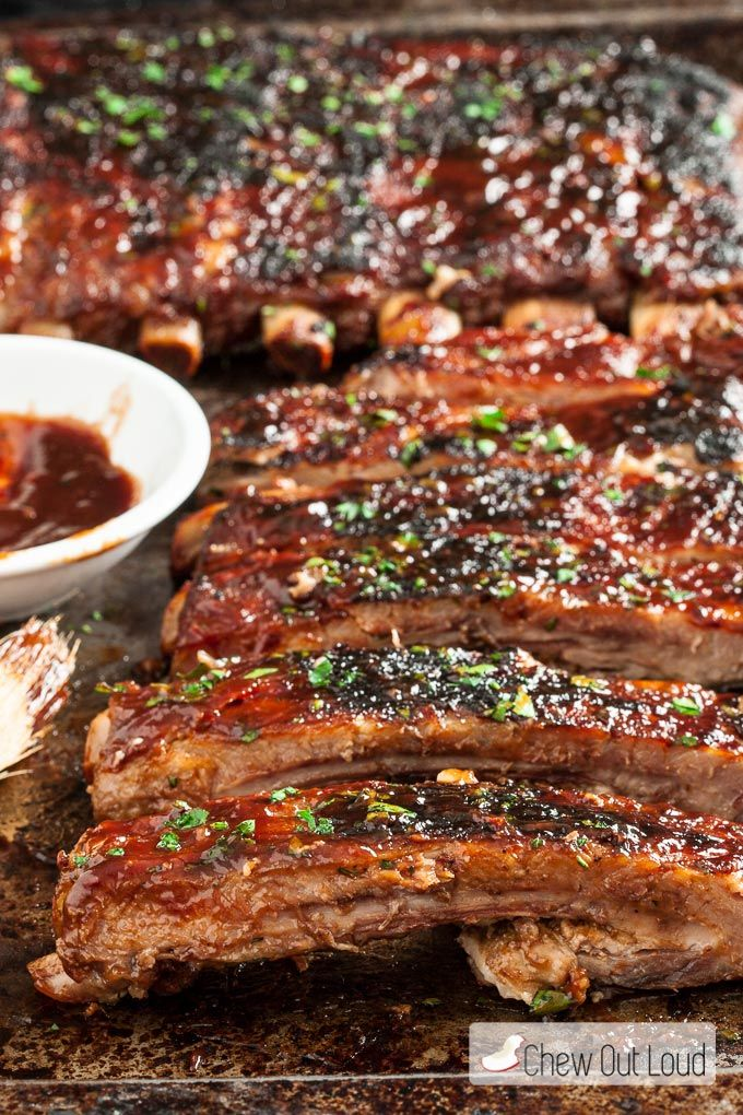 You'll love these BBQ Sriracha Ribs. They're mostly prepared ahead of time and quickly grilled before serving, for the most fork-tender ribs ever eaten.