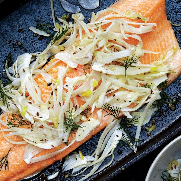 Slow-Roasted Char with Fennel Salad