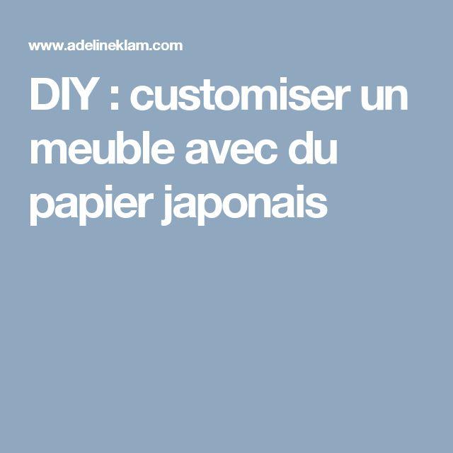 DIY : customiser un meuble avec du papier japonais