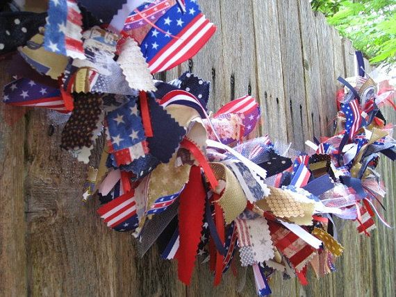 Red White Blue Bunting Patriotic Bunting 4th of by AWorkofHeartSA