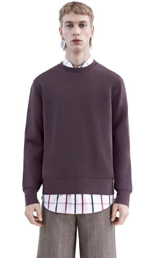 ACNE casey grape purple sweatshirt F/W15