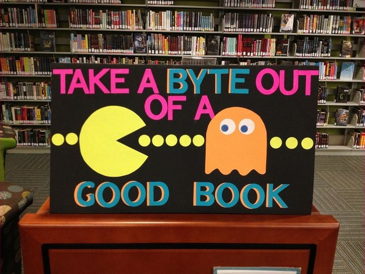 The PAC MAN Display Lonna Made At The Athens Clarke County Library During  Her Internship.