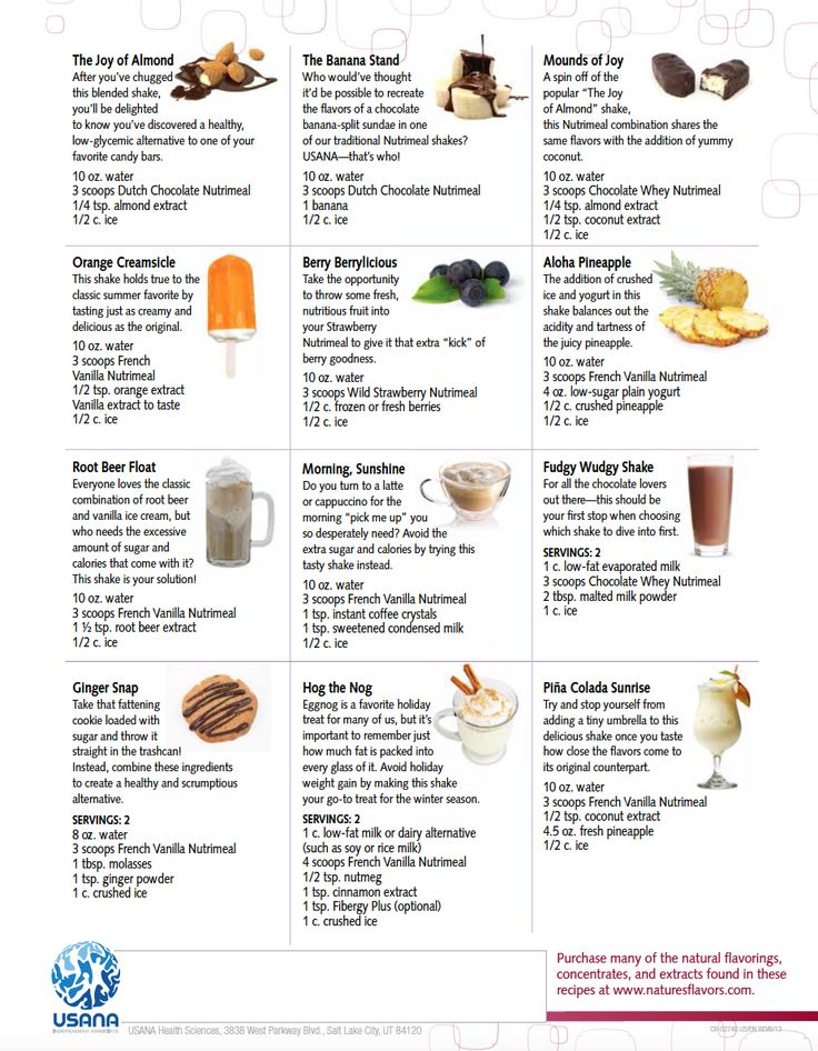 """Enjoy some """"specialty"""" flavors to compliment your USANA Nutrimeal. For more info and to order today, visit ihaveachoice.usana.com"""