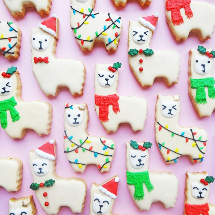 Llama Orange-Spiced Cookies for the Holly-Days | Brit + Co