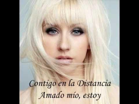 Christina Aguilera- Contigo en la Distancia With Lyrics #music #diva