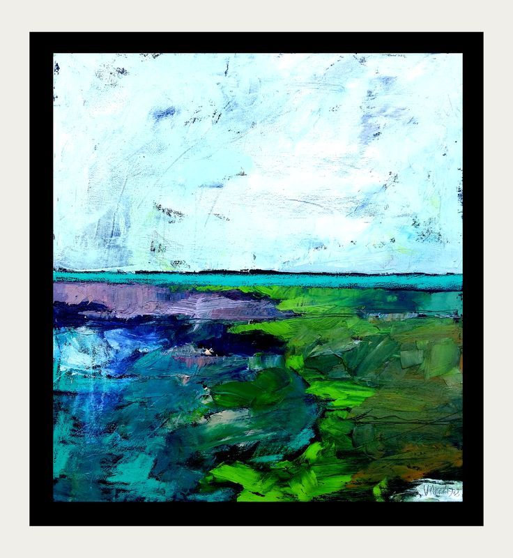 abstract landscape expressionistic picture! 50x46 cm structural oil painting by KarolinaBUrbanska on Etsy