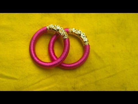 making basic silk thread bangle for beginners(english) - YouTube