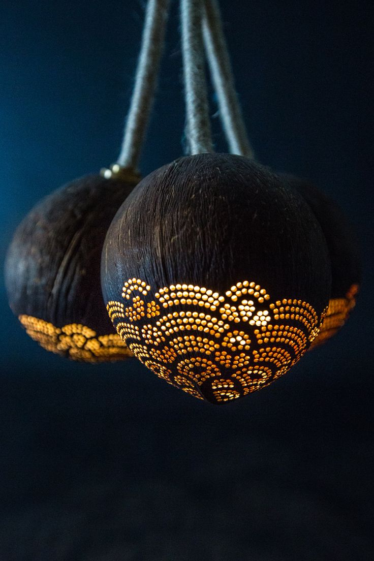 Pendant Trio handmade coconut lamp by SKURA Design. https://www.etsy.com/listing/253906814/pendant-designer-lamp-with-a-story?ref=shop_home_feat_1
