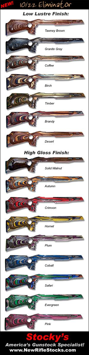 Which one, which one? Eliminator Ruger 10/22 Thumbhole Laminated Riflestocks - www.Rgrips.com