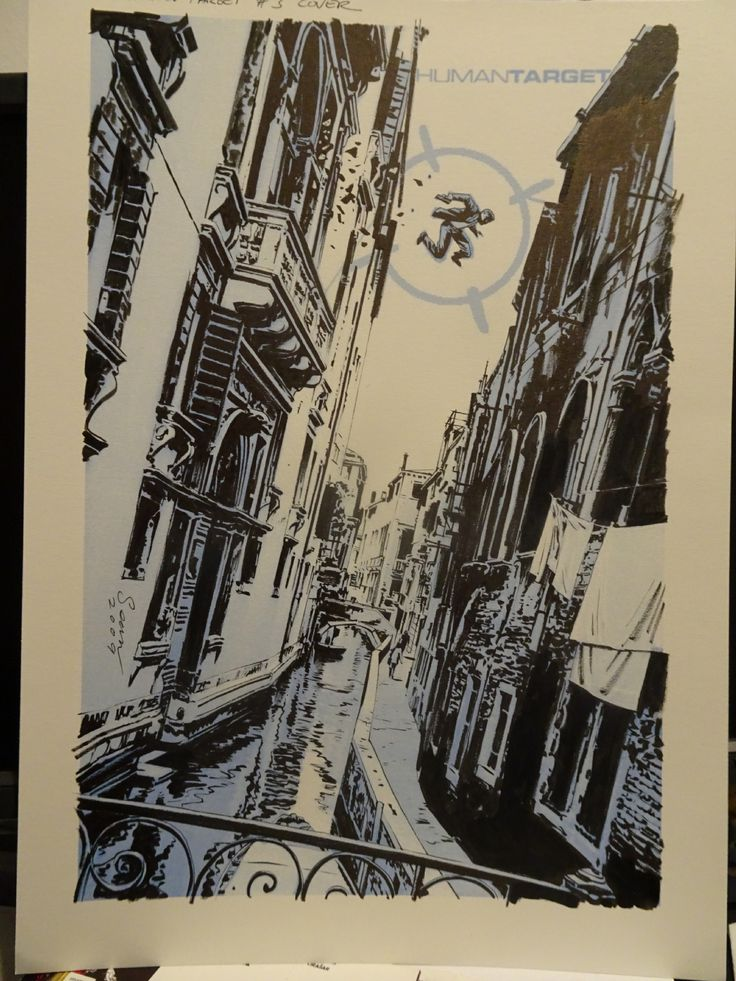 Sean Phillips, cover Human Target 3rd series, issue 3 - Original Comic Art - W.B.