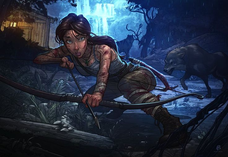 Lara Croft from Tomb Raider by Patrick Brown.
