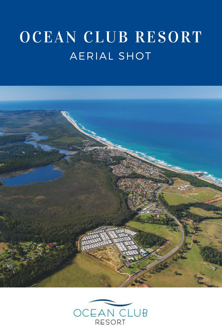 Ocean Club Resort is surrounded by natural beauty! Could this be the setting for your new home?  Call Karen today on 1800 462 326 if you want to experience the best in over 50's living! #Aerialphotography