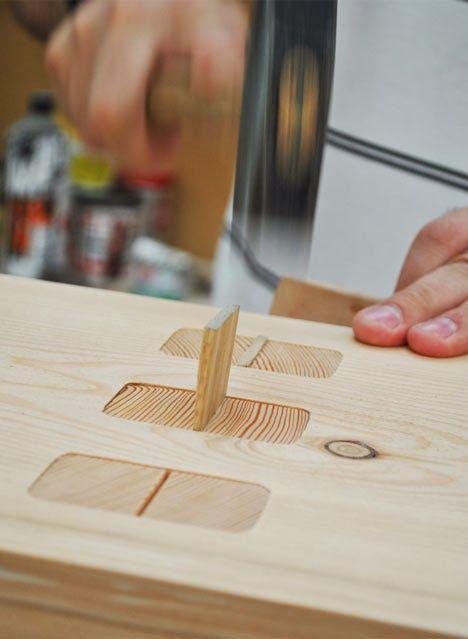 Les 25 meilleures id es de la cat gorie mortaise sur pinterest tenon et mortaise d finition - Assemblage bois japonais ...