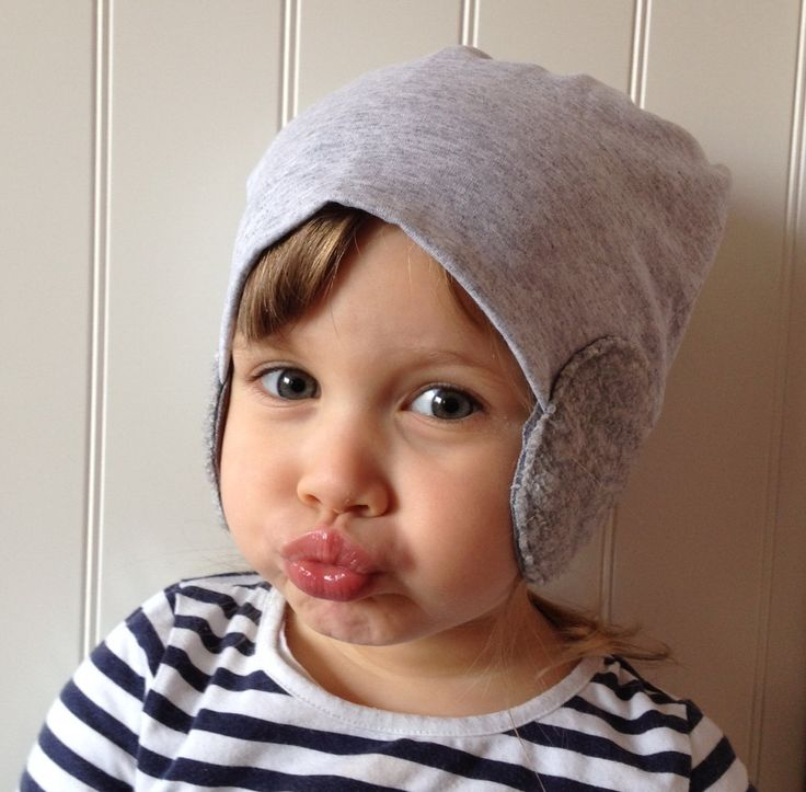 Little Sophie kids beanie #littlesophie #beanie #kids #grey #czapka #pilotka