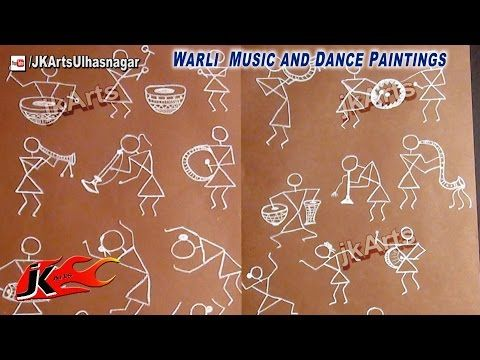 Warli Music and Dance Paintings - JK Arts 557 - YouTube