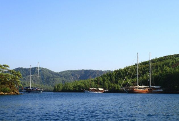Day 7: BLACK ISLAND – (POYRAZ BAY – METEOR BAY) - BODRUM We will start to cruise early in the morning to Karaada (Black Island). Breakfast and a swimming break will be at Poyraz Bay which is located on the northern side of the island. This is such a nice bay with its turquoise-blue waters.
