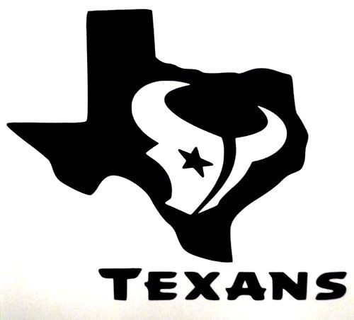 Details about houston texans bull texas logo football car for Houston texans logo template