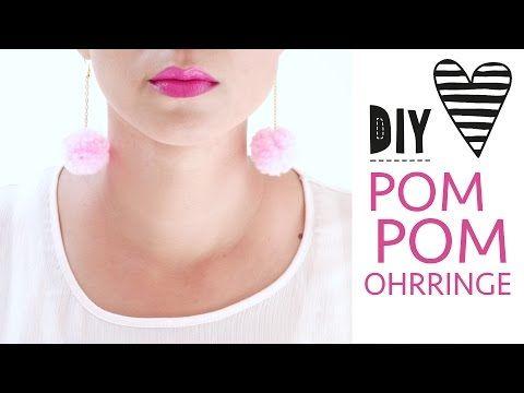 DIYPom Pom Ohrringe selber machen |Accessoires Earring Tutorial | ANABANANA ANASTASIA - YouTube
