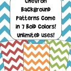 Check out these bright and bold Chevron pattern backgrounds!    There are 7 different colors available, all in png format, along with a PDF file that...
