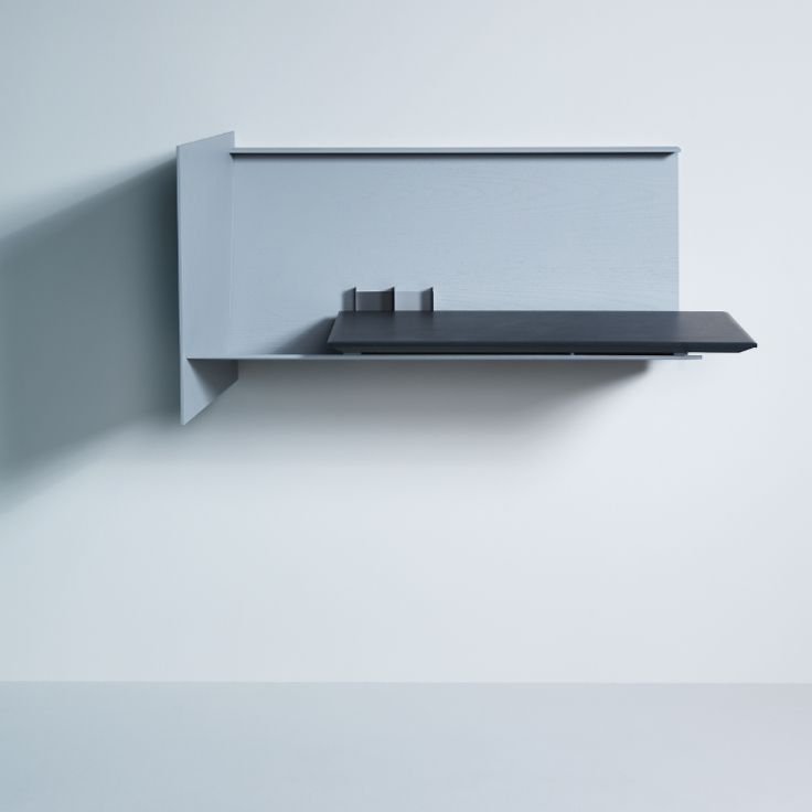 Desk Pad - left, sleek and quarzgrey