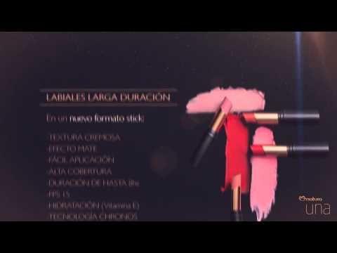 Natura cosméticos - Portal de maquillaje - Labiales y polvo compacto larga duración Natura UNA