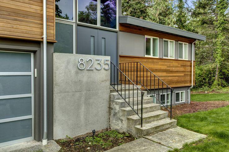 Exterior refresh of 1970 39 s split level home modern split old board pinterest split for 1970 house exterior renovation