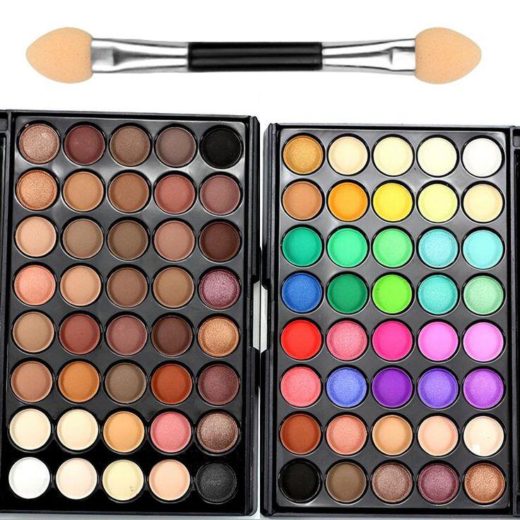40 warna profesional merek makeup banyak glitter matte eyeshadow naked palette eye shadow nude kosmetik bronzer tahan air