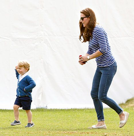 Kate Middleton and Prince George attend the Gigaset Charity Polo Match at the Beaufort Polo Club on June 14, 2015 in Tetbury, England.