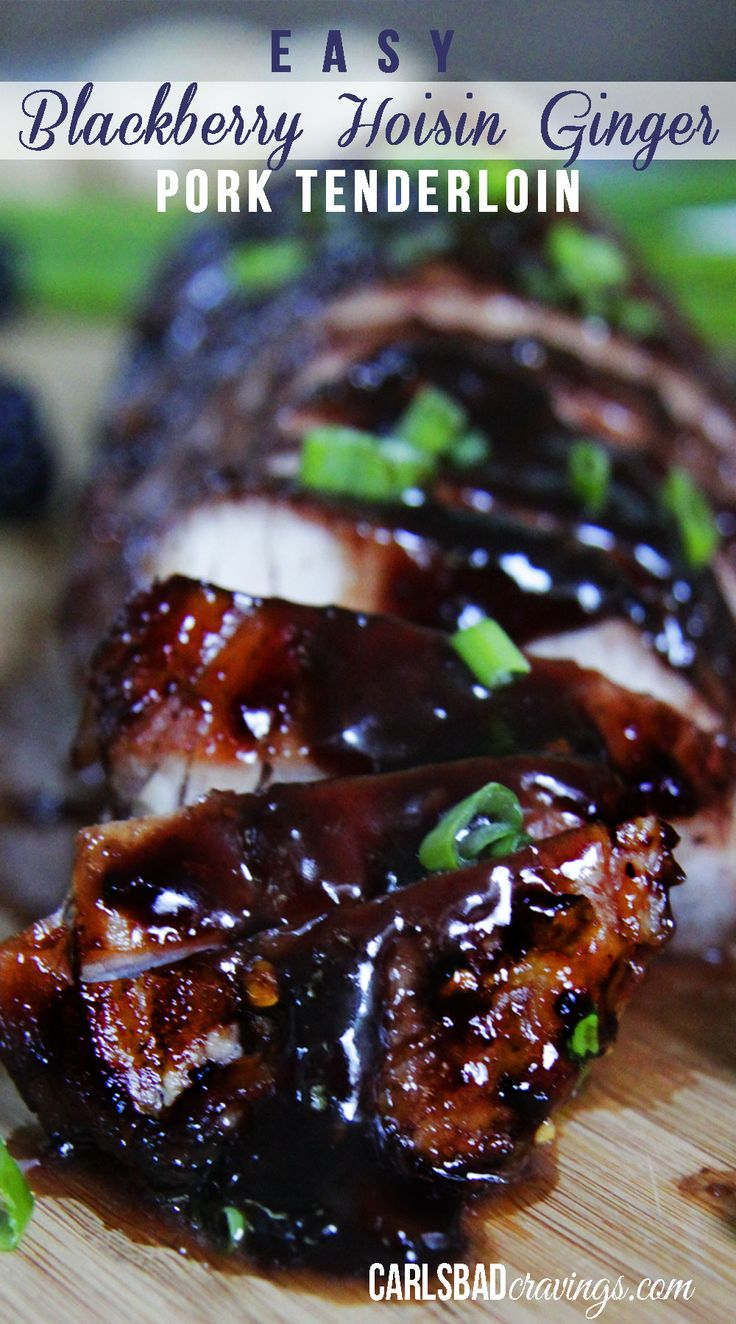 EASY, COMPANY PLEASING pork smothered in blackberry hoisin sauce- Its sweet and spicy, melt in your mouth tender with an Asian flair. AMAZING! | Carlsbad Cravings