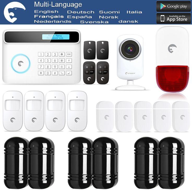 chuangkesafe eTIGER GSM/PSTN Intruder Alarm System For Home/Office WiFi Network Camera + IR Beam Detector 100M