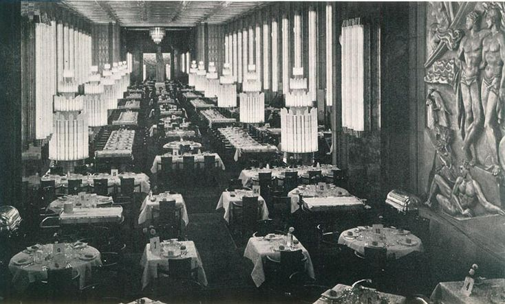 Inside The First Class Dining Room Of The S S Normandie In