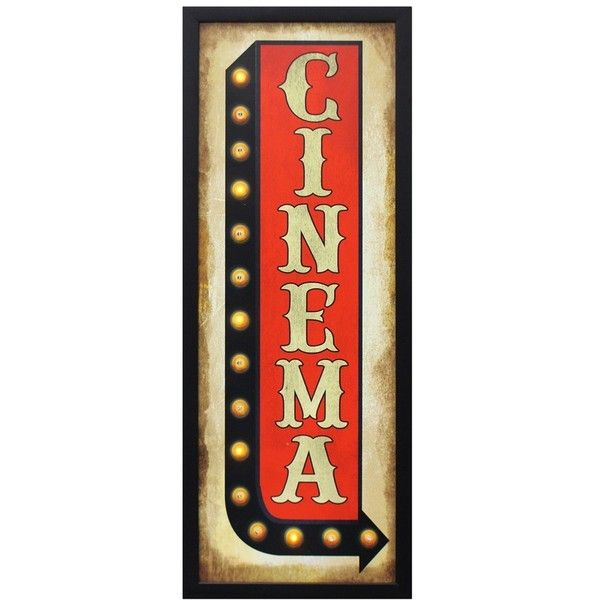 Crystal Art Gallery U0027Cinemau0027 LED Light Up Marquee Sign ($40) Found On  Polyvore Featuring Home, Home Decor, Wall Art, Extra, Signs, Red, Movie Wall  Art, ... Part 90