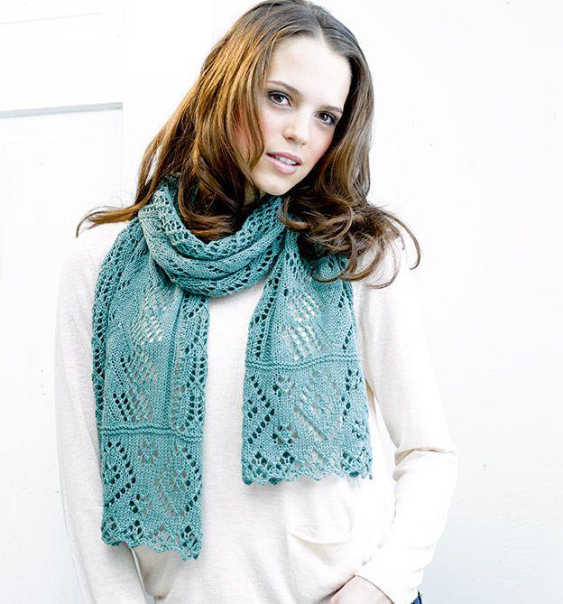 Frühlinghafter Lace-Schal. Aus unserem Buch 'Lace stricken mit Sockengarnen'