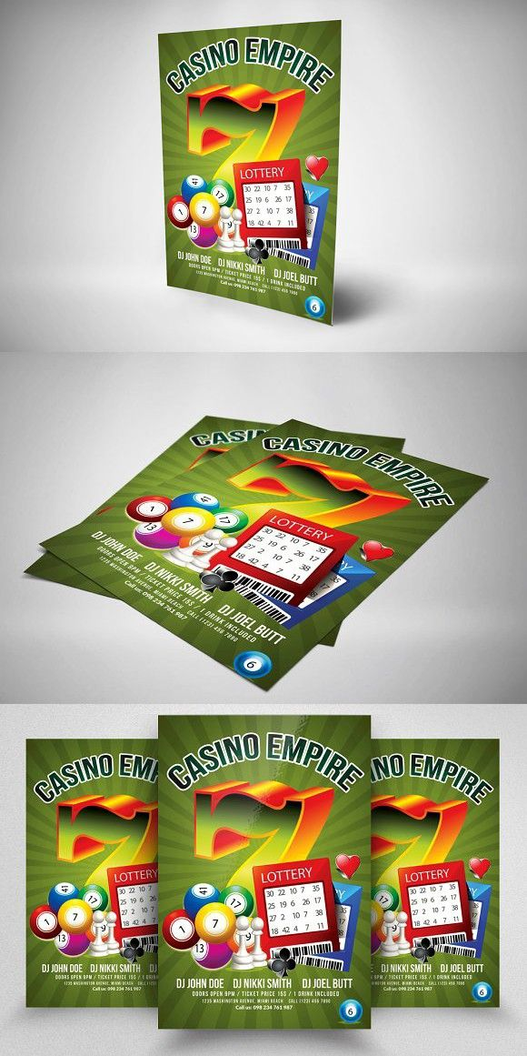 Casino Night Flyer Templates  Casino Night Flyer Template And